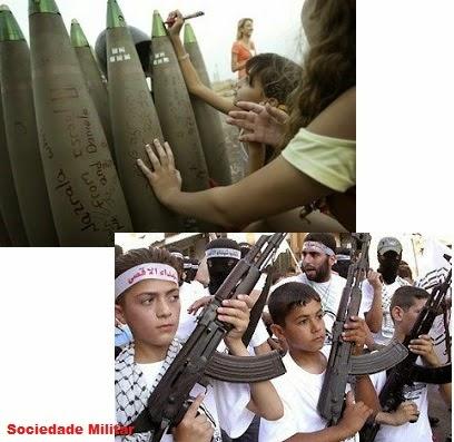 crianças armas hamas guerra