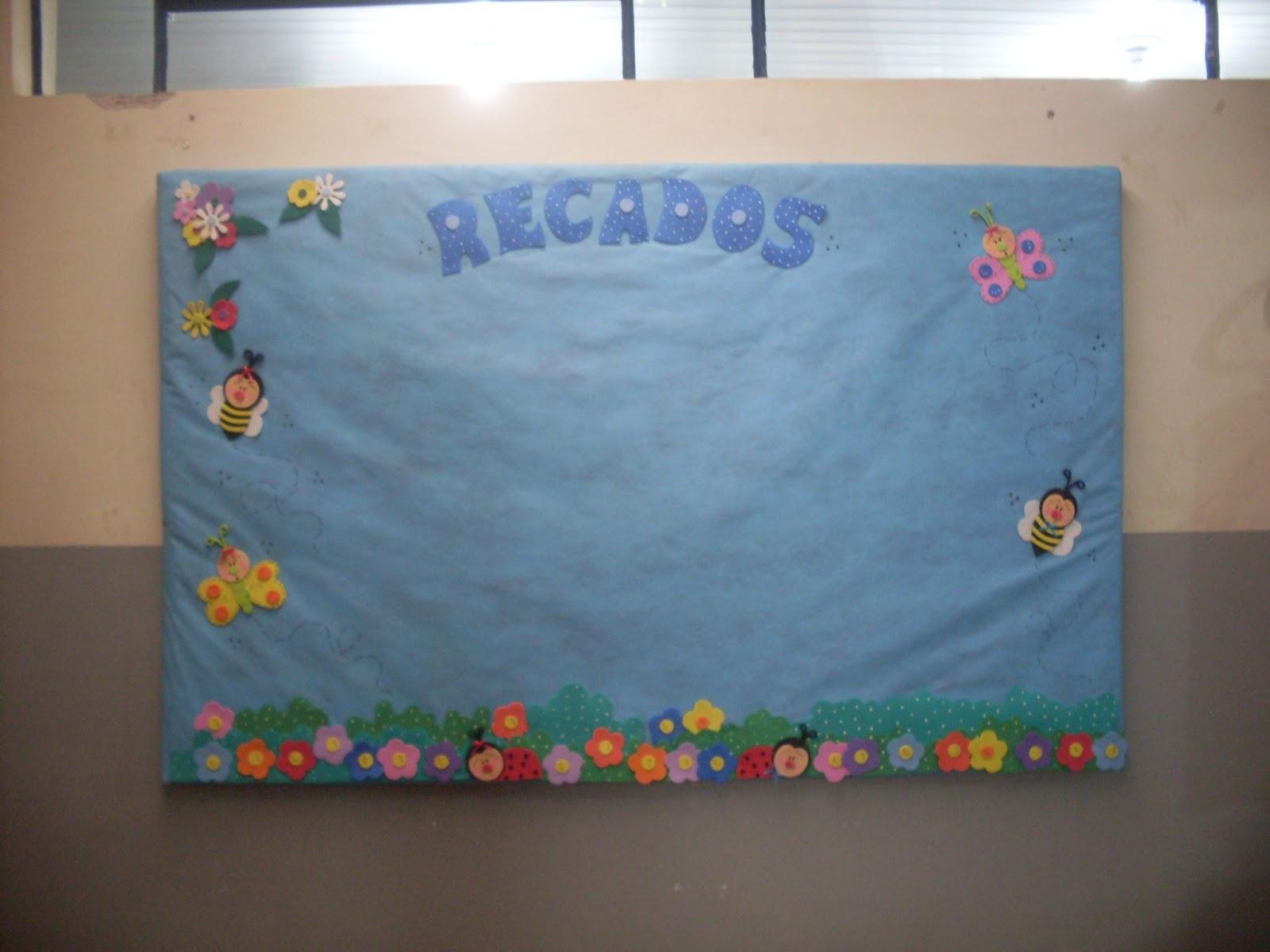 Mural de recados bichinhos de jardim for Mural de isopor e eva