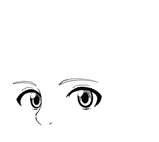 Dessiner des yeux manga de côté