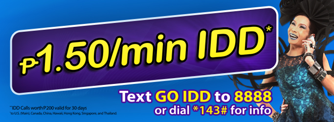 Globe GO IDD How to Register and Call Abroad for P1.50 Per Minute