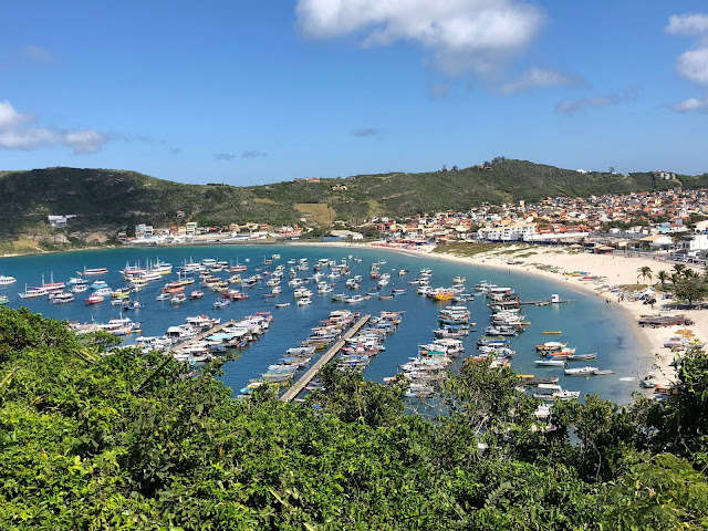 Conhecer a Praia do Forno pela trilha ou táxi boat? Visual da Praia dos Anjos
