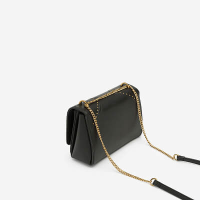 Túi Đeo Chéo Nắp Gập Phối Chỉ Nổi - SHO 0143 - Màu Đen