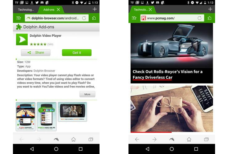 Dolphin Video Flash Player Untuk Android Sruput Tekno