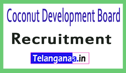 Coconut Development Board CDB Recruitment