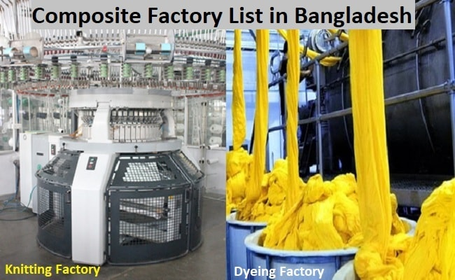 Composite textile factory list in Bangladesh
