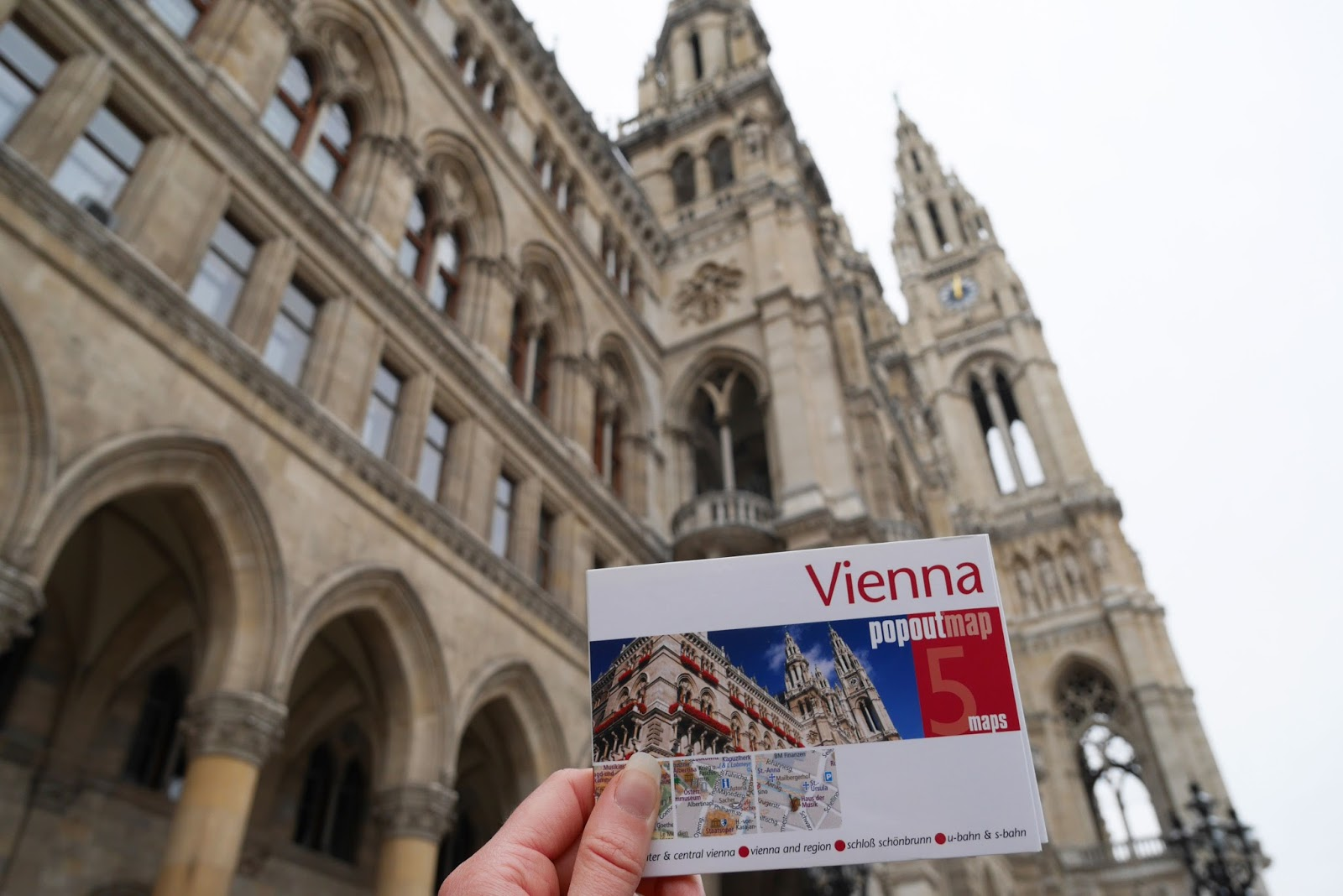 Vienna Popout map outside the Rathaus (City Hall)