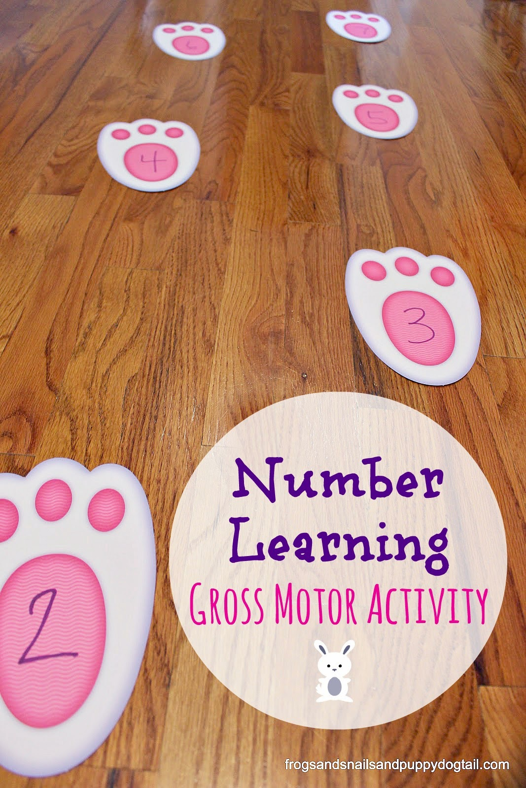 Number Learning Gross Motor Activity