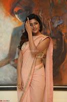 Eesha Rebba in beautiful peach saree at Darshakudu pre release ~  Exclusive Celebrities Galleries 055.JPG