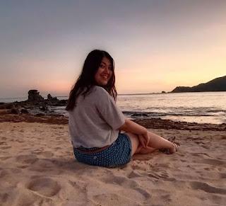 Sunset di Pantai Kuta Mandalika Lombok