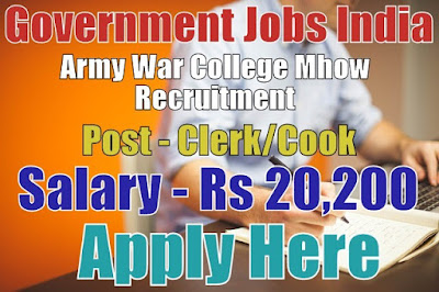 Army War College Mhow Recruitment 2017 Apply Here