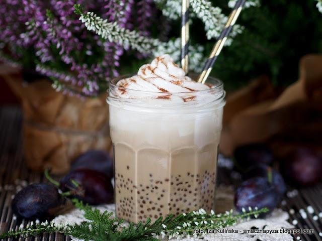kawa z kuleczkami tapioki, perelki tapioki, napoj kawowy, deser kawowy, kawa zbozowa, inka, napoje, kawusia
