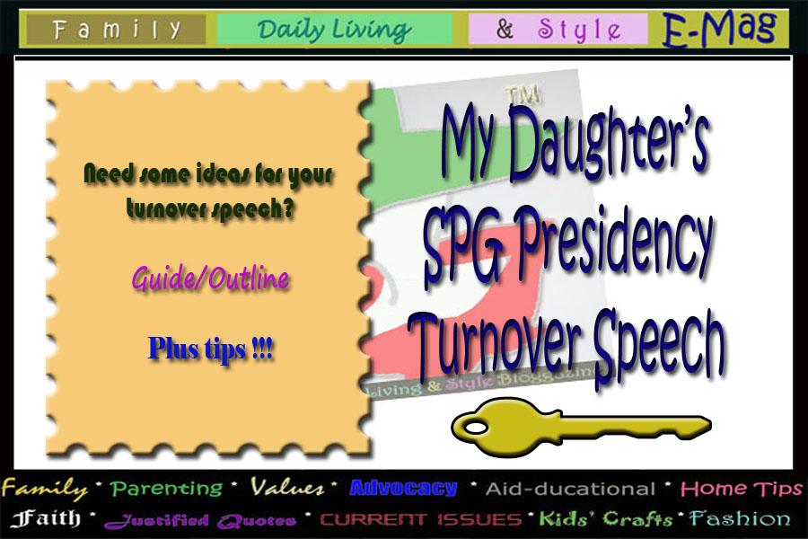 FDLS Online Magazine SPG Turnover Speech Sample