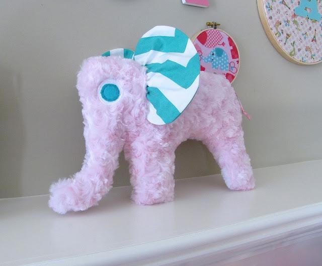 stuffed elephant for baby shower