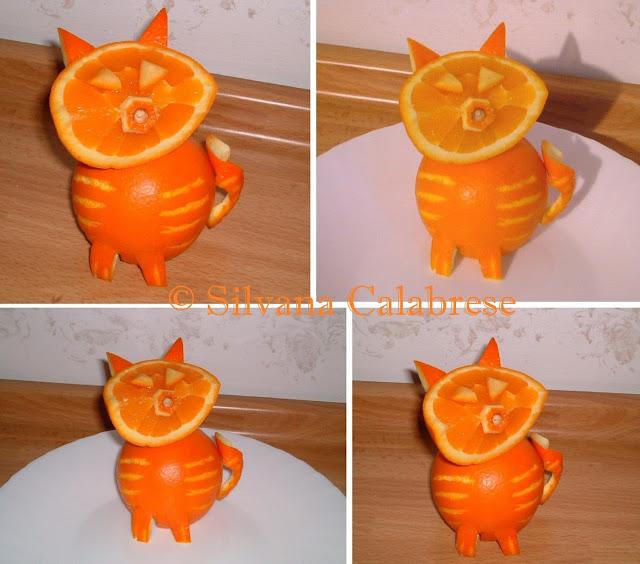 Intagli frutta verdura gatto gattino arancia Silvana Calabrese - Blog