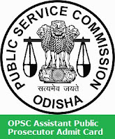 OPSC Assistant Public Prosecutor Admit Card