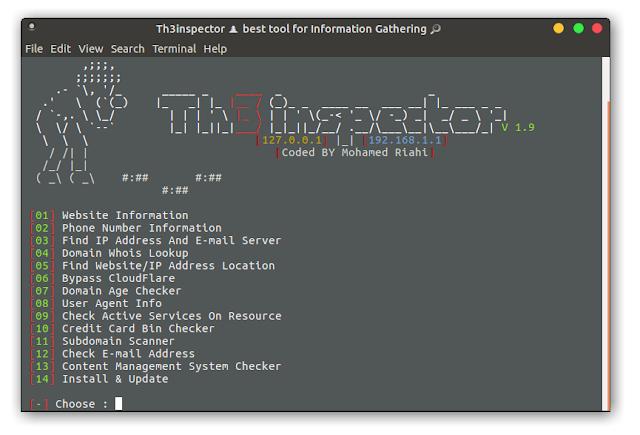 Th3Inspector - Ferramenta para Recolhe Informações
