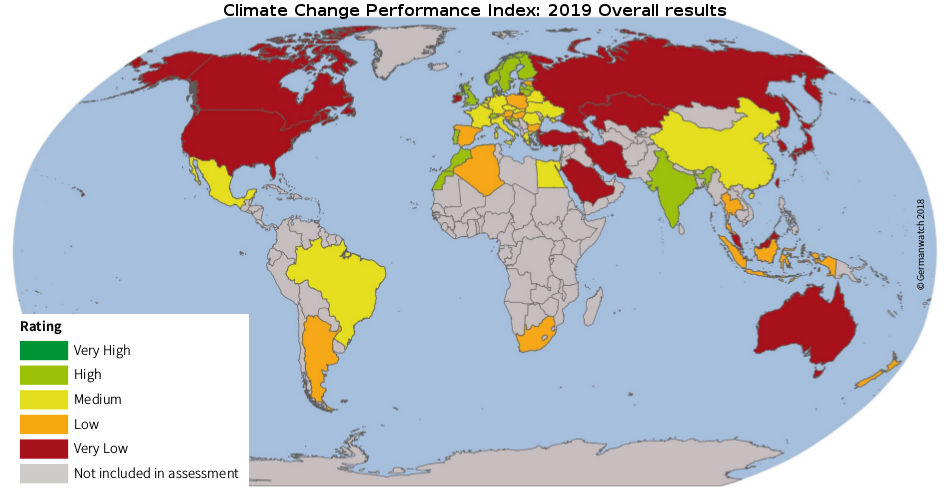 Australia Map Climate.Australia Performs Very Poorly In 2019 Climate Change Performance