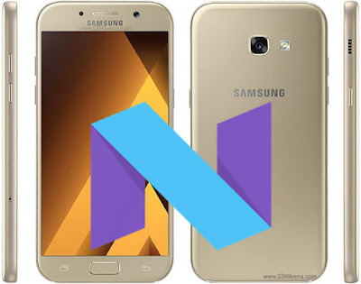 galaxy a5 2017 android nougat