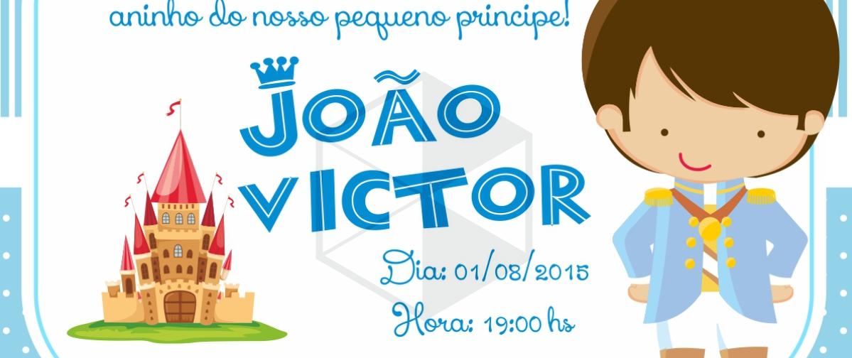 Convite De Aniversário Infantil Príncipe Bruno Di Souza