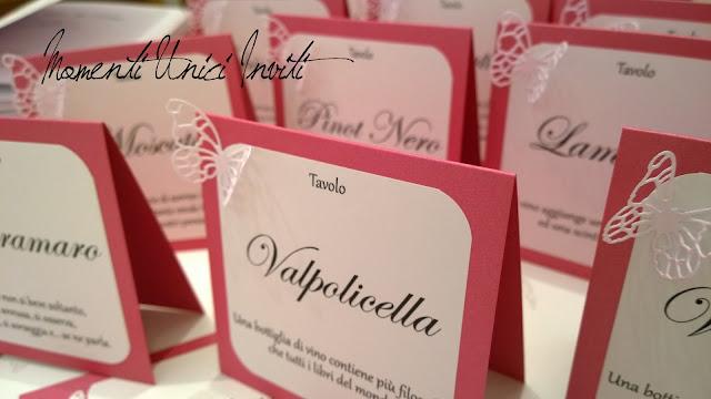 3 I coordinati nei toni del fucsia e rosa tenue di Dalila e Gian MarioColore Fucsia Colore Rosa Colore Rosa Cipria Partecipazioni intagliate Tema Farfalle