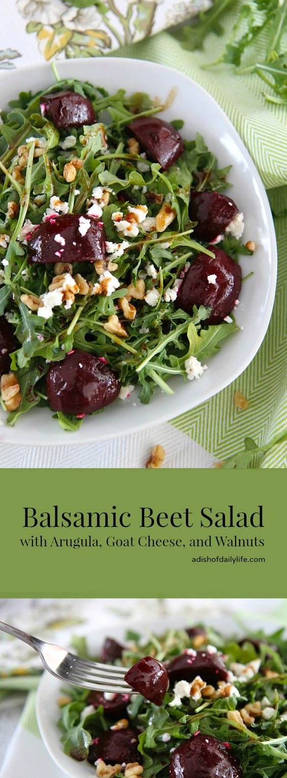 Balsamic Beet Salad with Arugula and Goat Cheese | CUCINA DE YUNG