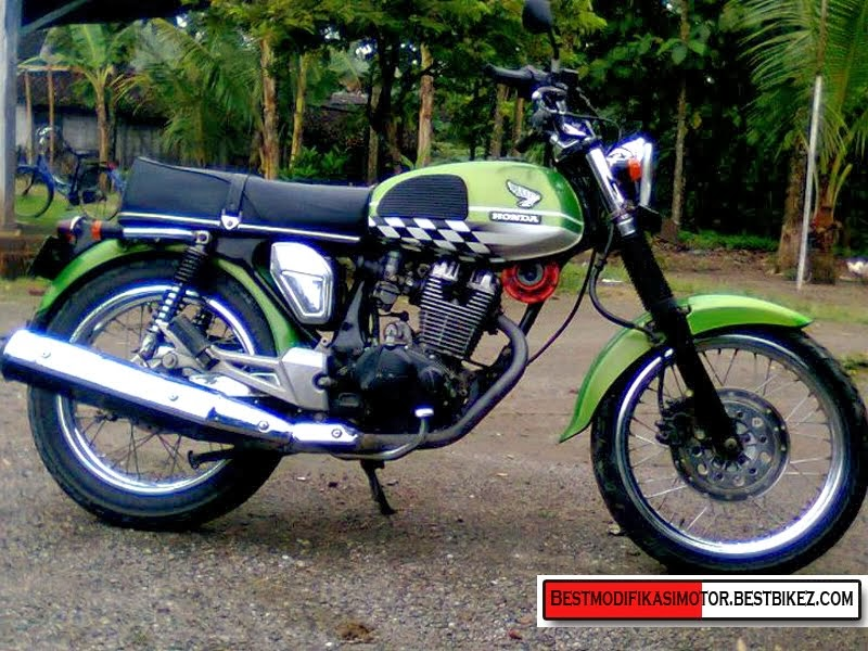 modifikasi cb 100 minimalis