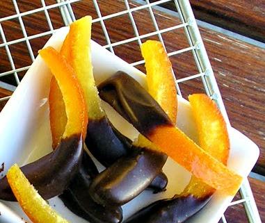 Ioanna's Notebook - Chocolate covered orange sticks - Μπαστουνάκια πορτοκαλιού με σοκολάτα