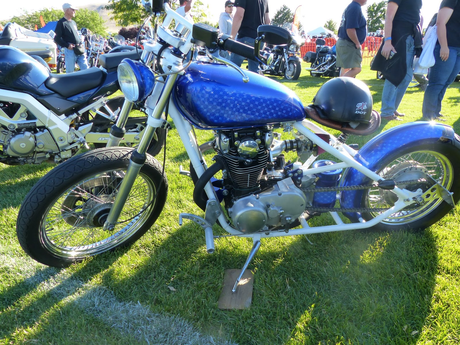 OldMotoDude: Yamaha XS 650 Bobber parked at the 2016 Hogs and Dogs ...