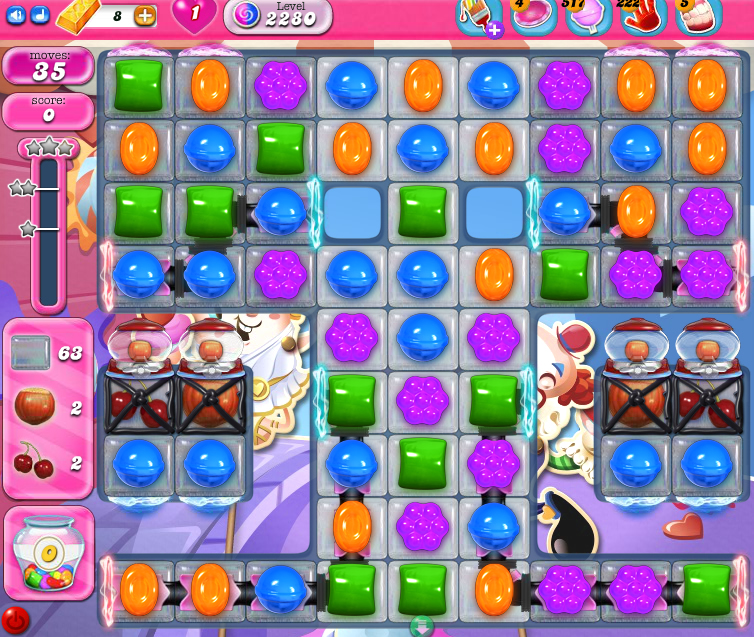Candy Crush Saga level 2280