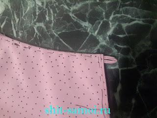 Втачивание петли в блузку