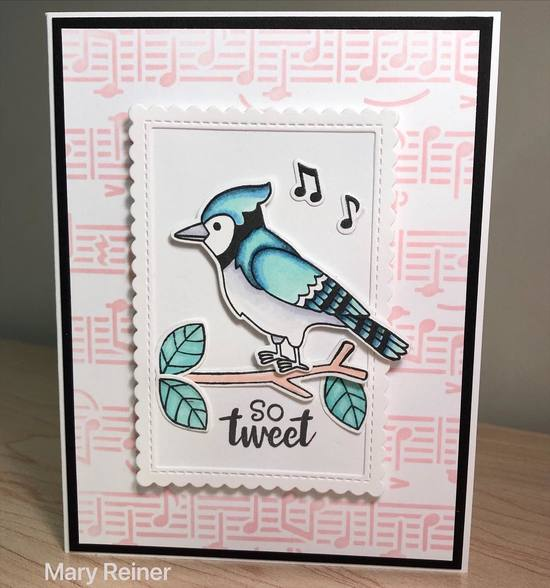 So tweet by Mary features Winter Birds, Music, and Framework by Newton's Nook Designs; #newtonsnook