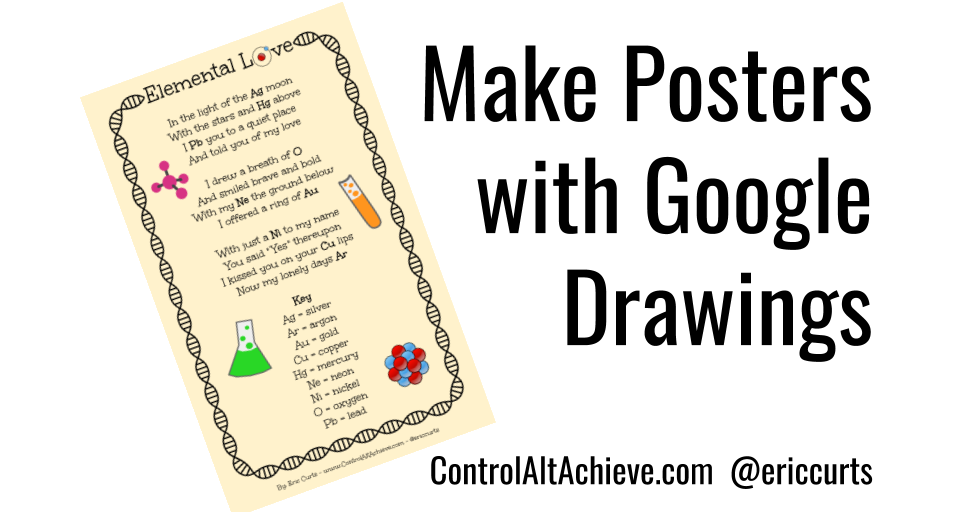 Control Alt Achieve: Making Posters with Google Drawings