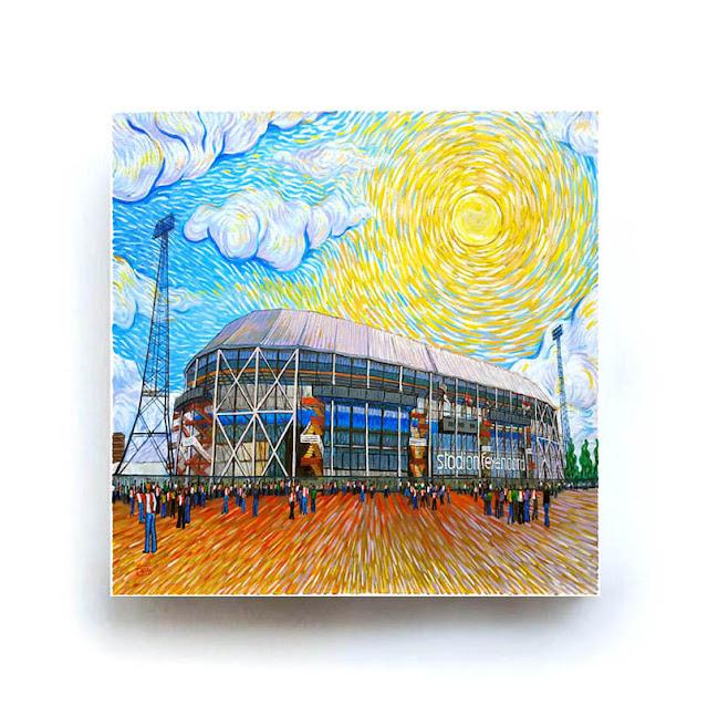 Rotterdam De Kuip Like Van Gogh