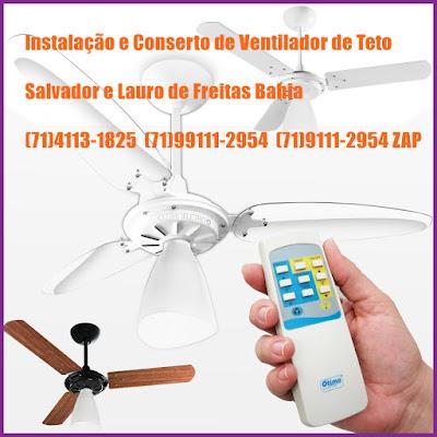 Manutenção Reparação e Instalação de Ventilador de teto
