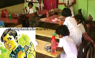 girls in Rajangana Sri Rahula Vidyalaya vaccinated by unidentified nurses