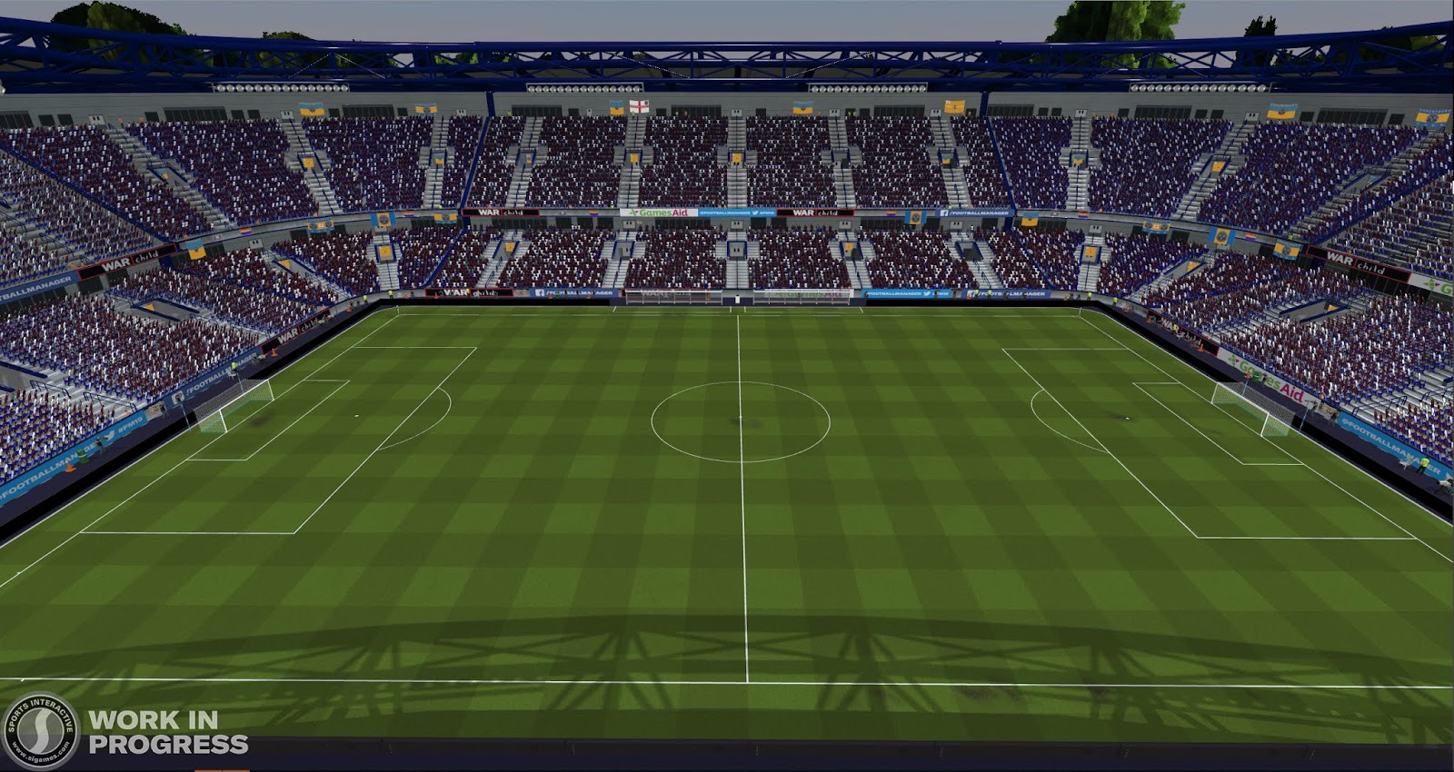 A damp grass pitch in Football Manager 2020