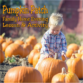 Teach your kids while having fun at the local pumpkin patch with this fall Family Home Evening lesson and activity. With all the ideas you'll need, you can have a fun family night activity with very little stress. #pumpkinpatch #familyhomeevening #familynight #diypartymomblog