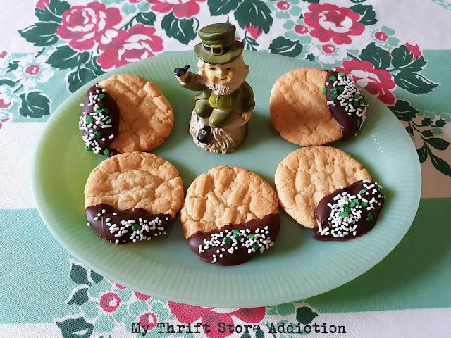 Dark chocolate dipped sugar cookies