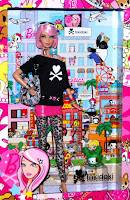 2012 tokidoki barbie mint new in package pink hair