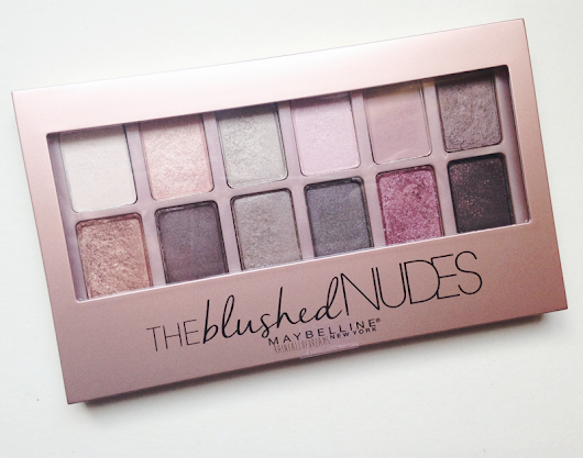 "Reseña: Paleta ""The Blushed Nudes"" de Maybelline."