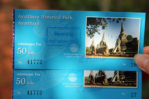 Ticket Preis bei Geschichtspark Ayutthaya (Thailand)