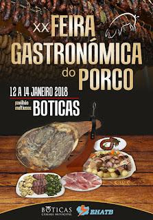 Programa Feira Gastronómica do Porco 2018 em Boticas