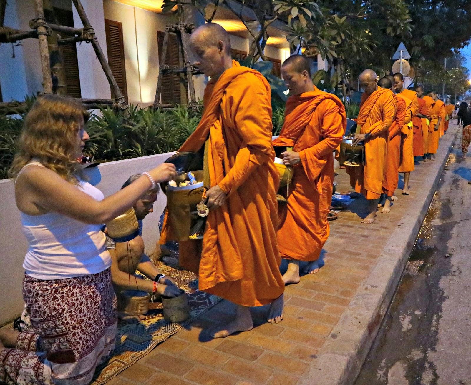 Luang Prabang, Laos - Alms Giving Ceremony
