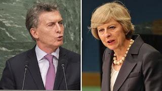 El gobierno británico negó rotundamente que la primer ministra Theresa May haya dialogado con el presidente Mauricio Macri sobre la soberanía de las islas Malvinas en la breve reunión informal que mantuvieron ayer en Nueva York en el marco de la Asamblea general de la ONU.