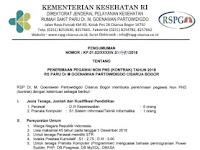 Penerimaan Pegawai Non PNS RS Paru Dr M Goenawan Partowidigdo Cisarua Bogor Tahun 2018