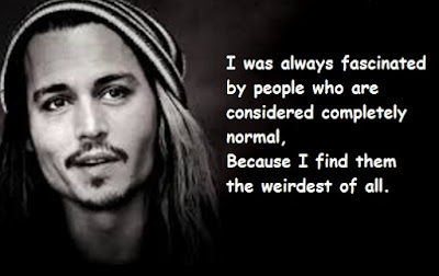 """Johnny Depp Quotes About Normal People"""