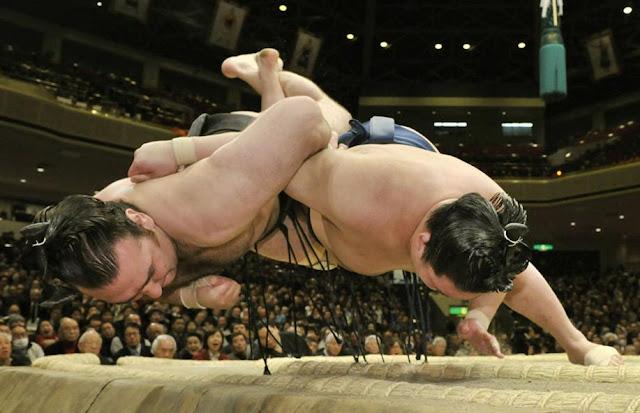 Grand Sumo Tournament, at The Ryogoku Kokugikan, Sumo Arena, Tokyo