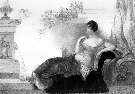 Mrs Robinson - the celebrated Perdita  from The Memoirs of George IV by R Huish (1830)