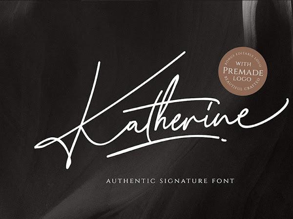 Katherine Authentic Signature Font Free Download