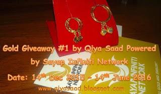Senarai Pemenang Gold Giveaway #1 by Qiya Saad Powered by Sayap Infiniti Network